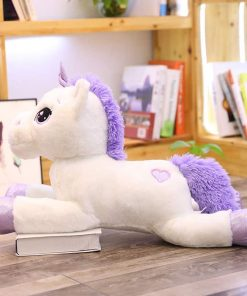 Giant Stuffed Unicorn White