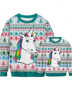 Unicorn Pajamas Christmas