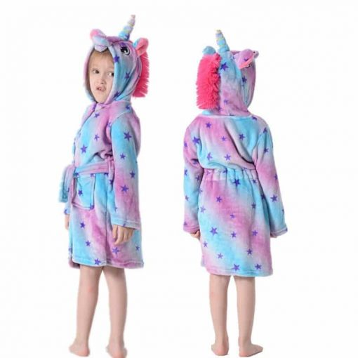 Unicorn Bathrobe Girl