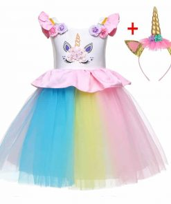 Unicorn Dress Rainbow