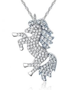 Unicorn Crystal Pendant Sterling Silver