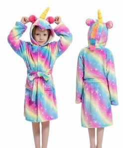 Unicorn Bathrobe Rainbow