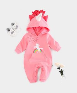 Unicorn Costume Baby Pink