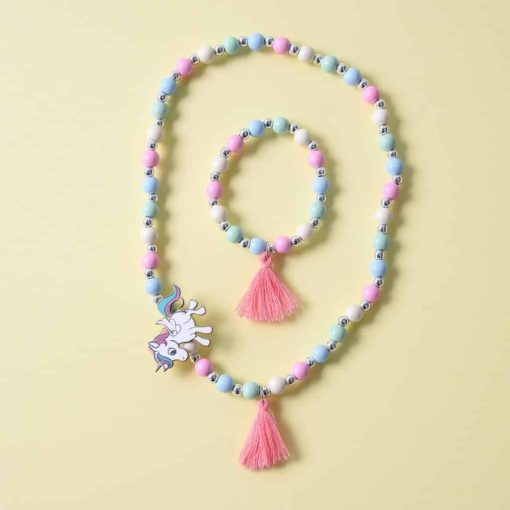 Unicorn Pastel Necklace Pearl