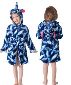 Unicorn Hooded Bathrobe
