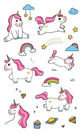 unicorn horn temporary tattoo