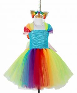 Unicorn Costume Girls Rainbow