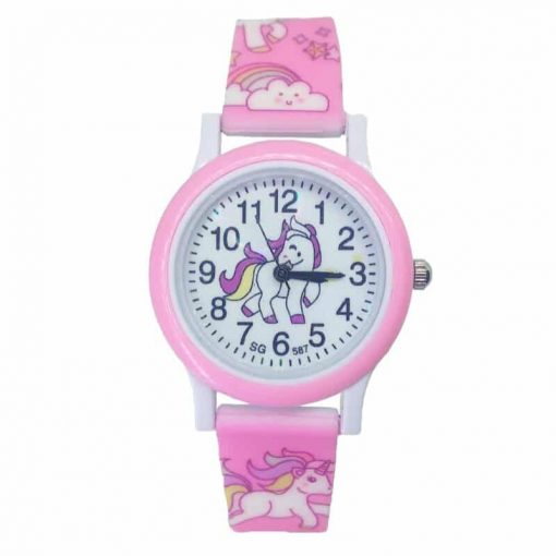 Pink Kids Unicorn Watch Tikkers