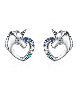 Unicorn Earrings Screw Back