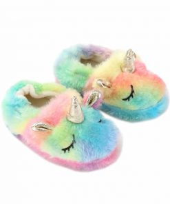 Unicorn Slippers Rainbow