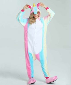 Unicorn Costume Adult Rainbow
