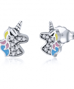 Unicorn Earrings Silver