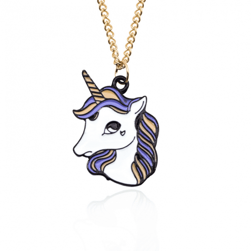 Unicorn Head Necklace For Little Girl