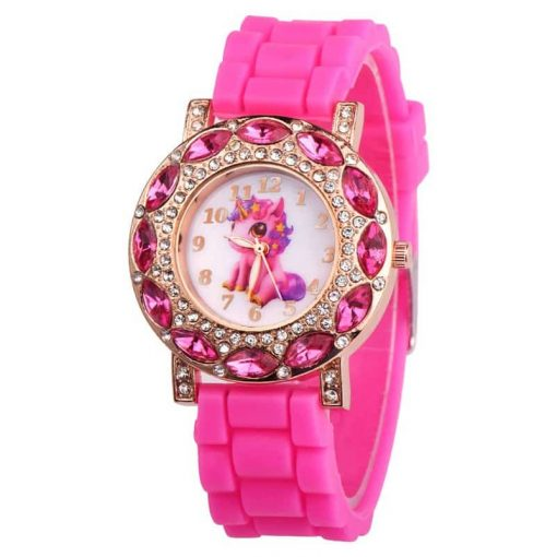 Pink Unicorn Spinner Watch