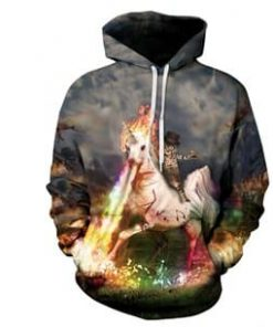 Unicorn Sweater Cat Riding