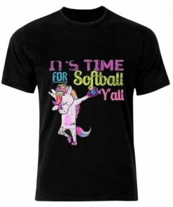 Unicorn Shirt Dabbing Softball