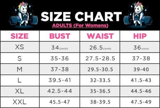 Guide Chart Womens Leggings 1