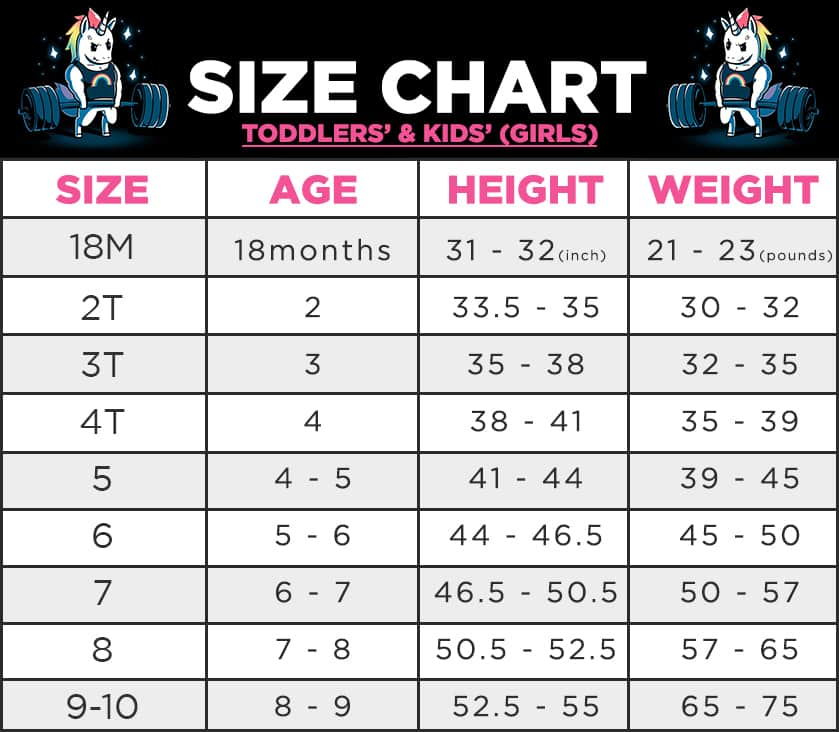 Unicorn Shirt Size Kids