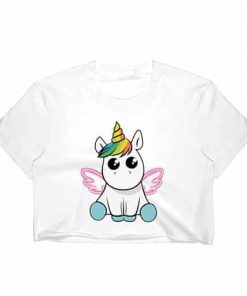 Unicorn Crop Top Outfit