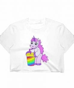 Unicorn Crop Top Shirt