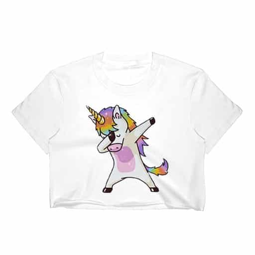 Unicorn Crop Top Womens