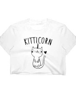 Unicorn Crop Top Mesh