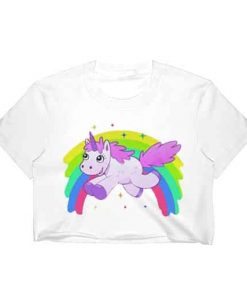 Unicorn Crop Top Rainbow