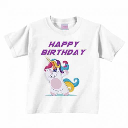 Unicorn Shirt Birthday Dabbing