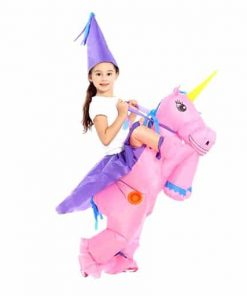 Unicorn Costume Kid Riding