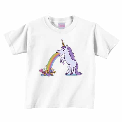 Unicorn Shirt Puking Rainbow