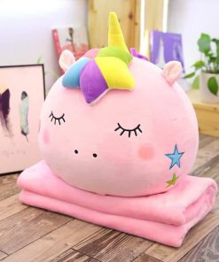 Unicorn Pillow And Blanket