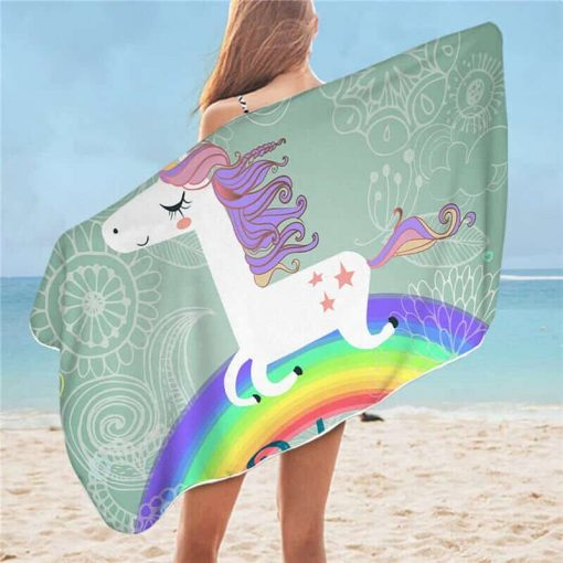Unicorn Beach Towel Rainbow