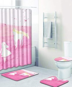 Unicorn Shower Curtain Set