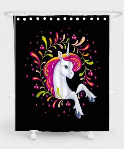 Unicorn Shower Curtain Face