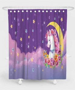 Unicorn Shower Curtain Pink