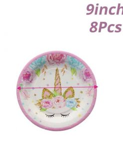 Unicorn Party Decoration Plate
