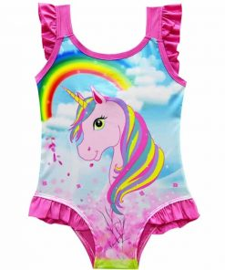 Unicorn Bathing Suit Rainbow
