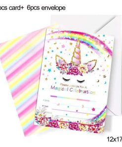 Unicorn Birthday Invitation Theme