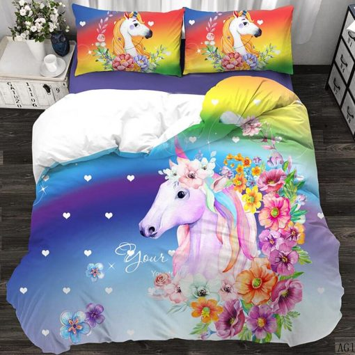 Unicorn Bedding Set Rainbow