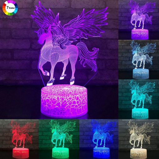 Unicorn Night Light Color Changing