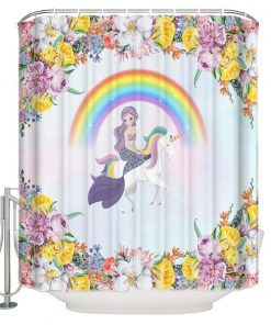 Unicorn Shower Curtain Mermaid