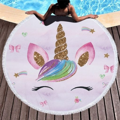 Unicorn Beach Towel Thick