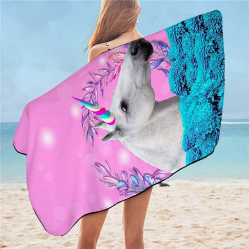 Unicorn Beach Towel Jumping Beans