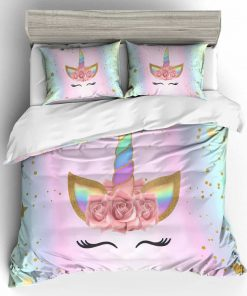 Unicorn Bedding Bedspread Queen