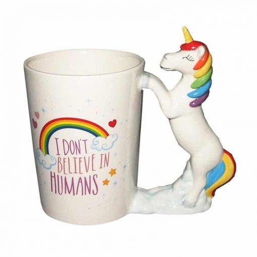 Unicorn Mug I Don't Believe In Humans