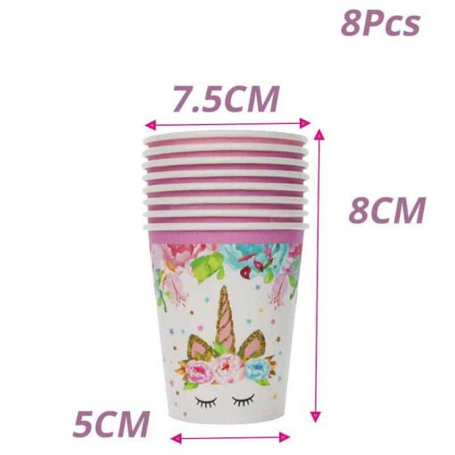 Unicorn Party Decoration Cups