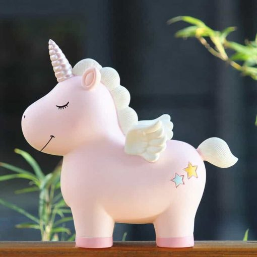 Unicorn Piggy Bank Pink