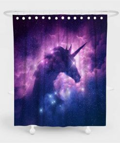 Unicorn Shower Curtain Purple