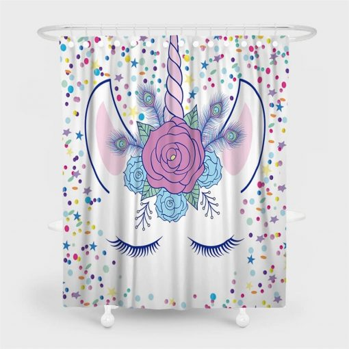Unicorn Shower Curtain Bathroom