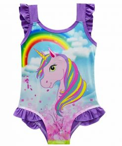 Unicorn Bathing Suit Little Girl